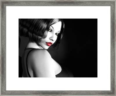 Secretive Desire Framed Print