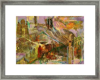 Framed Print featuring the mixed media Secrets by Mary Schiros