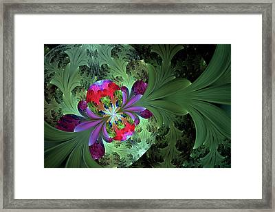 Secrets Plants Keep Abstract Framed Print by Georgiana Romanovna