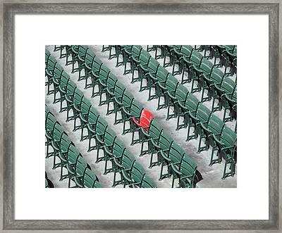 Section 42 Row 37 Seat 21 Framed Print