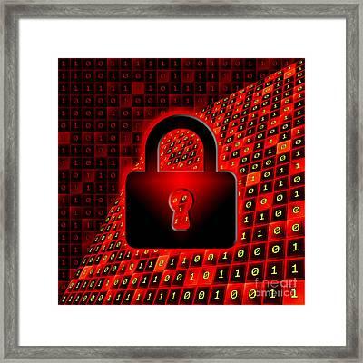 Secure Data Concept Framed Print