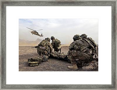 Security Force Team Members Wait Framed Print