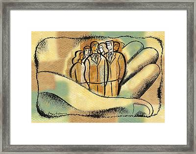 Security Framed Print by Leon Zernitsky