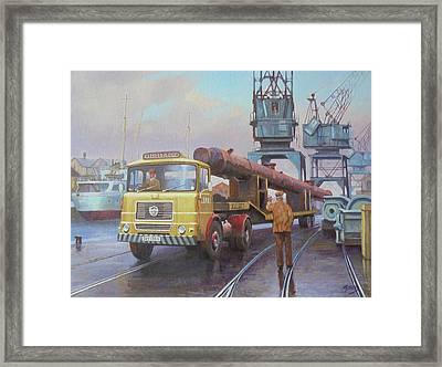 Seddon At The Docks. Framed Print