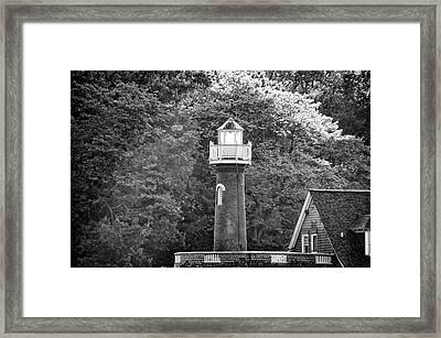 Framed Print featuring the photograph Sedgely Club - Turtle Rock Lighthouse by Bill Cannon
