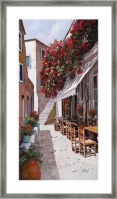 Sedie E Tavoli Framed Print by Guido Borelli