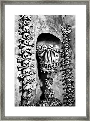 Framed Print featuring the photograph Sedlec Ossuary - Czech Republic by Stuart Litoff