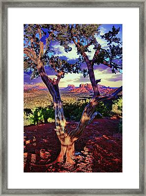 Sedona # 48 - Courthouse And Cathedral Rocks Framed Print