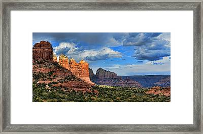 Sedona After The Storm Framed Print