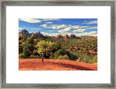 Framed Print featuring the photograph Sedona Afternoon by James Eddy