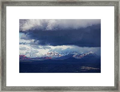 Sedona Area Third Winter Storm Framed Print