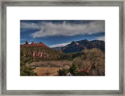 Framed Print featuring the photograph Sedona Arizona 001 by Lance Vaughn