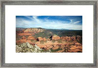 Sedona, Arizona Framed Print by American School