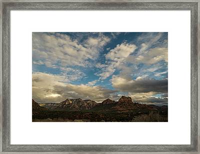 Framed Print featuring the photograph Sedona Arizona Redrock Country Landscape Fx1 by David Haskett