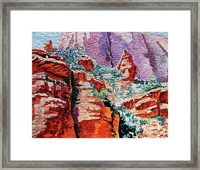 Sedona Arizona Rocky Canyon Framed Print