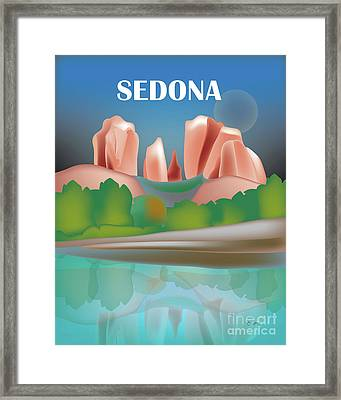 Sedona, Arizona Vertical Scene Framed Print