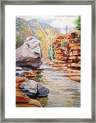 Sedona Arizona Slide Creek Framed Print by Irina Sztukowski