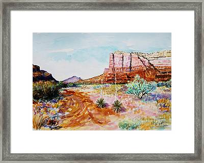 Sedona Bound Framed Print by M Diane Bonaparte