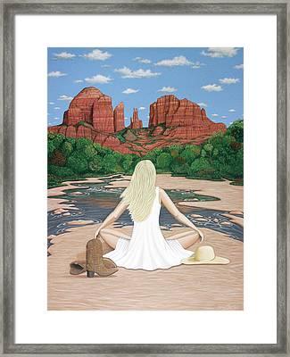 Sedona Breeze  Framed Print