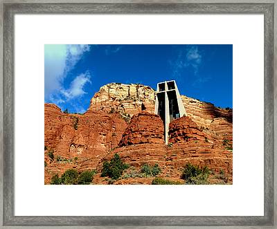 Framed Print featuring the photograph Sedona Chapel Of The Holy Cross by Cindy Wright