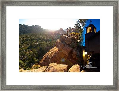 Sedona Day And Night Framed Print
