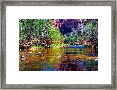 Sedona From A Different Point Of View Framed Print by Thomas  Todd