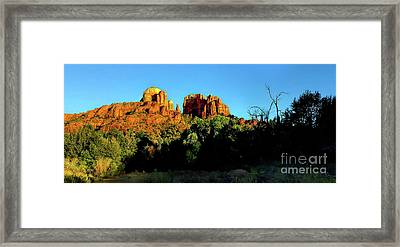 Sedona Golden Hour, Cathedral Rock Framed Print by Felix Lai