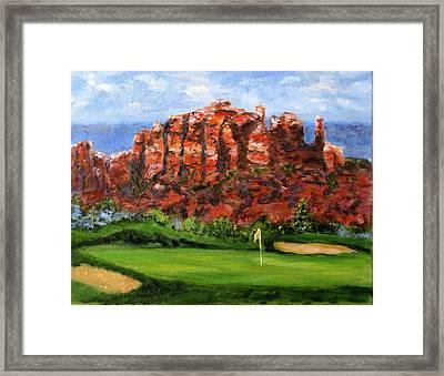 Sedona Golf Framed Print by Thomas Restifo