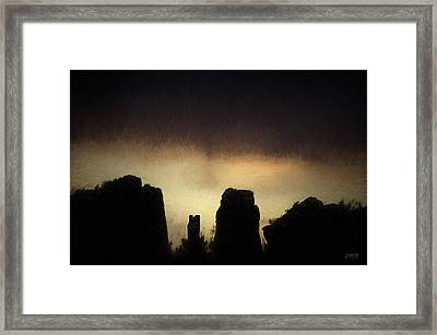 Sedona Landscape Xx Framed Print by David Gordon
