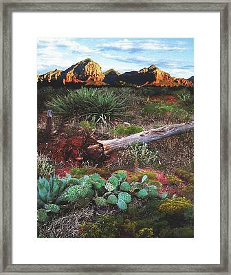 Sedona Mountain Sunrise Framed Print