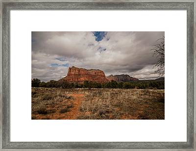 Framed Print featuring the photograph Sedona National Park Arizona Red Rock 2 by David Haskett