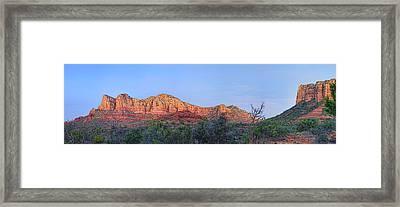Sedona Panoramic - Highway 179 Framed Print by Bob Coates