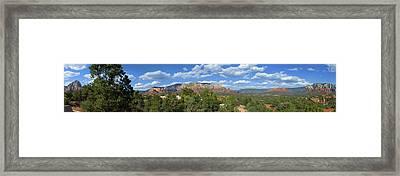 Sedona Panoramic Framed Print