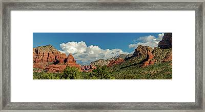 Sedona Panoramic II Framed Print by Bill Gallagher