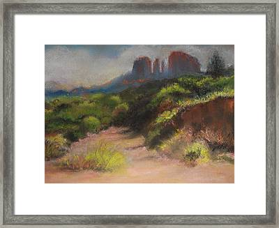 Sedona Pathway Framed Print