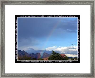 Sedona Rainbow Monsoon Framed Print