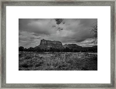 Framed Print featuring the photograph Sedona Red Rock Country Arizona Bnw 0177 by David Haskett