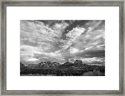 Framed Print featuring the photograph Sedona Red Rock Country Bnw Arizona Landscape 0986 by David Haskett