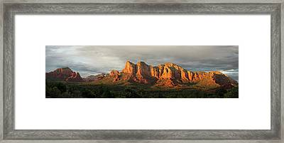 Sedona Red Rock Framed Print by Ron McGinnis