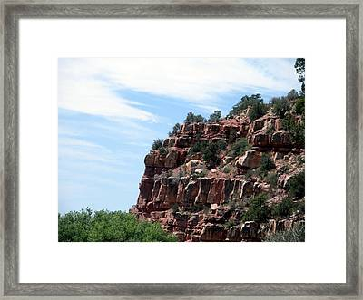 Framed Print featuring the photograph Sedona Red Rocks by Jeanette Oberholtzer
