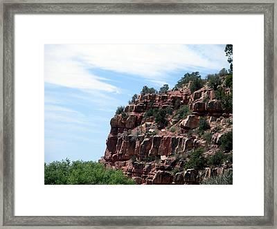 Sedona Red Rocks Framed Print by Jeanette Oberholtzer