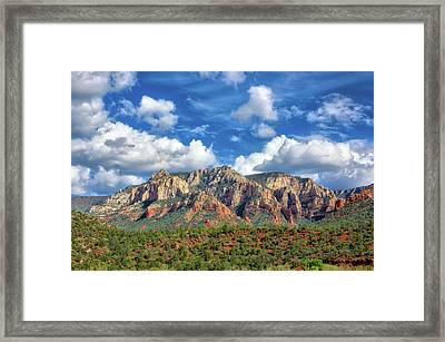 Sedona Red Rocks Scenic View Framed Print by Jennifer Rondinelli Reilly - Fine Art Photography