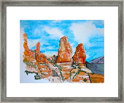 Sedona Red Rocks Framed Print by Sharon Mick
