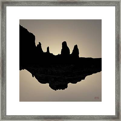 Sedona Revisited I Toned Framed Print by David Gordon