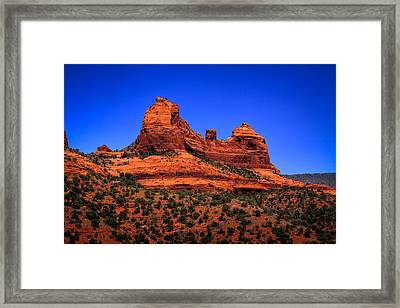Sedona Rock Formations Framed Print