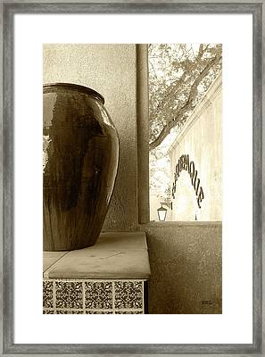 Framed Print featuring the photograph Sedona Series - Jug And Window by Ben and Raisa Gertsberg