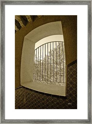 Framed Print featuring the photograph Sedona Series - Through The Window by Ben and Raisa Gertsberg