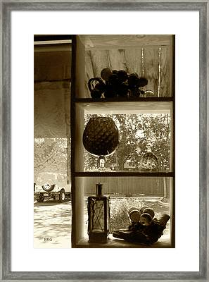 Framed Print featuring the photograph Sedona Series - Window Display by Ben and Raisa Gertsberg