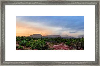 Sedona Showers Framed Print by Ron McGinnis