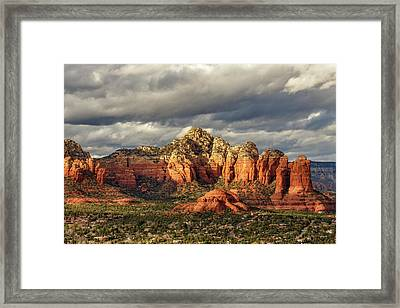 Framed Print featuring the photograph Sedona Skyline by James Eddy